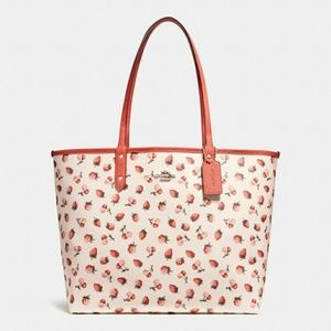 COACH Reversible City Tote With Pouch Bag